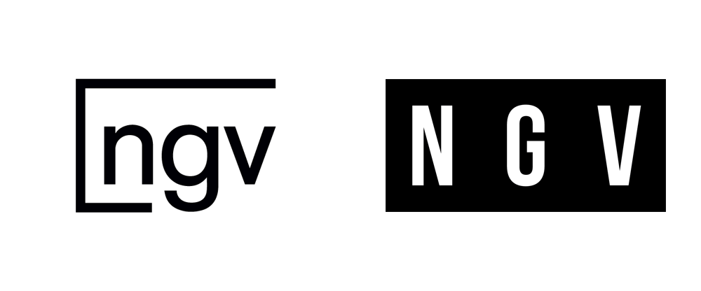New Logo and Identity for NGV by 3 Deep