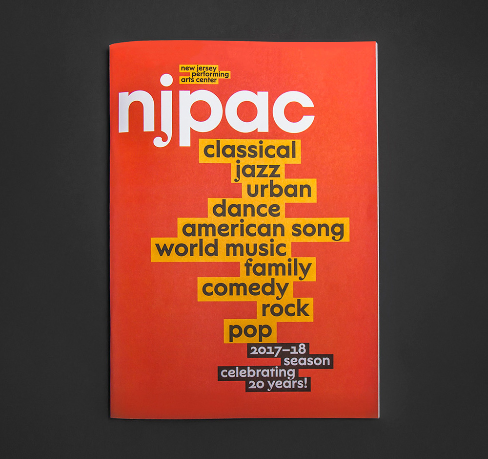New Logo and Identity for NJPAC by Pentagram