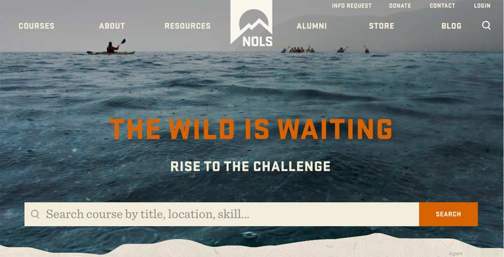 New Logo for NOLS by Magnifico Design and Wolf & Wilhelmine