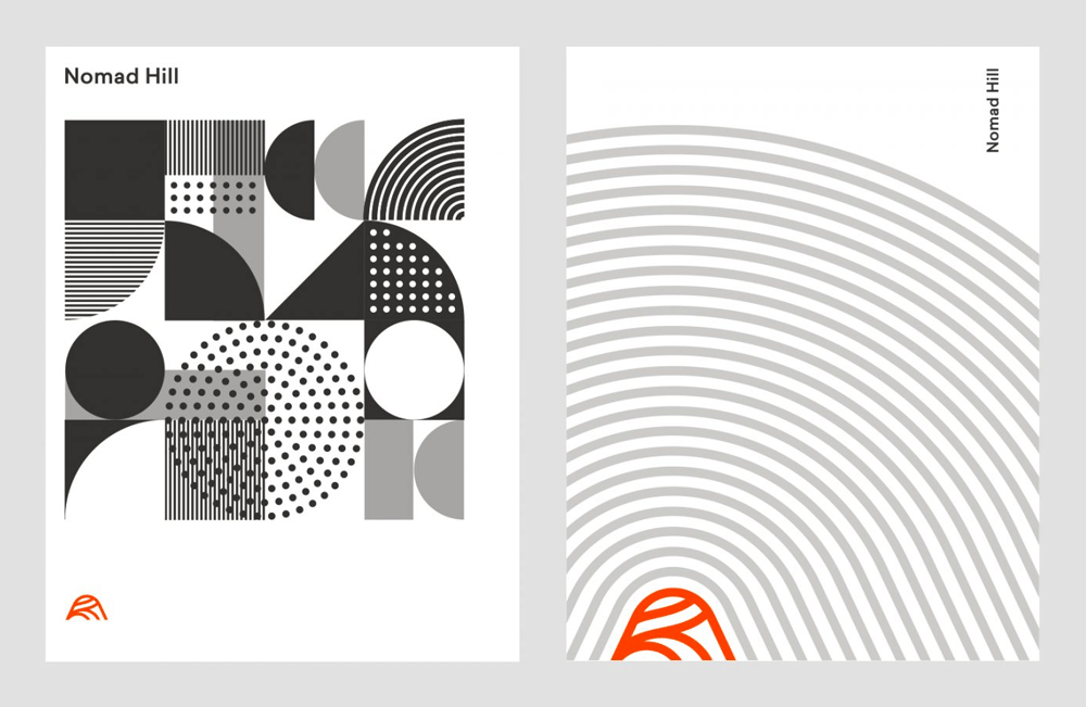 New Logo and Identity for Nomad Hill by Andrew Littmann