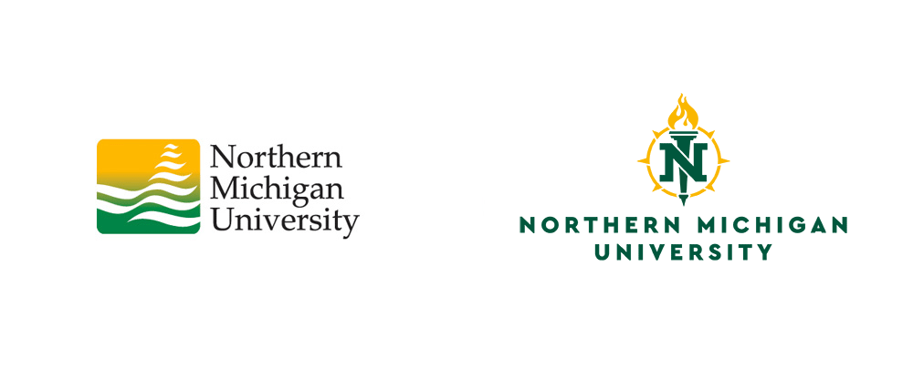 New Logos for Northern Michigan University by Rickabaugh Graphics