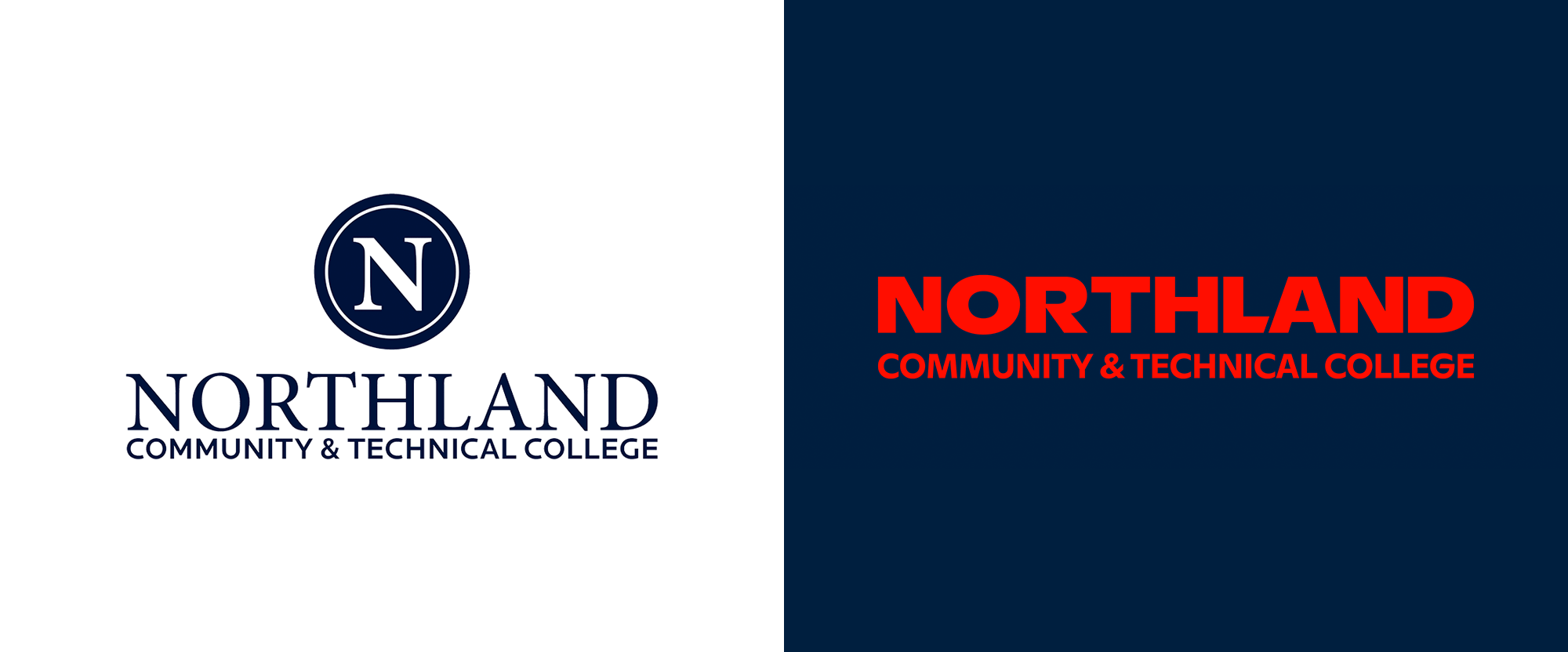 New Logo and Identity for Northland Community College and Northland Pioneers by Object