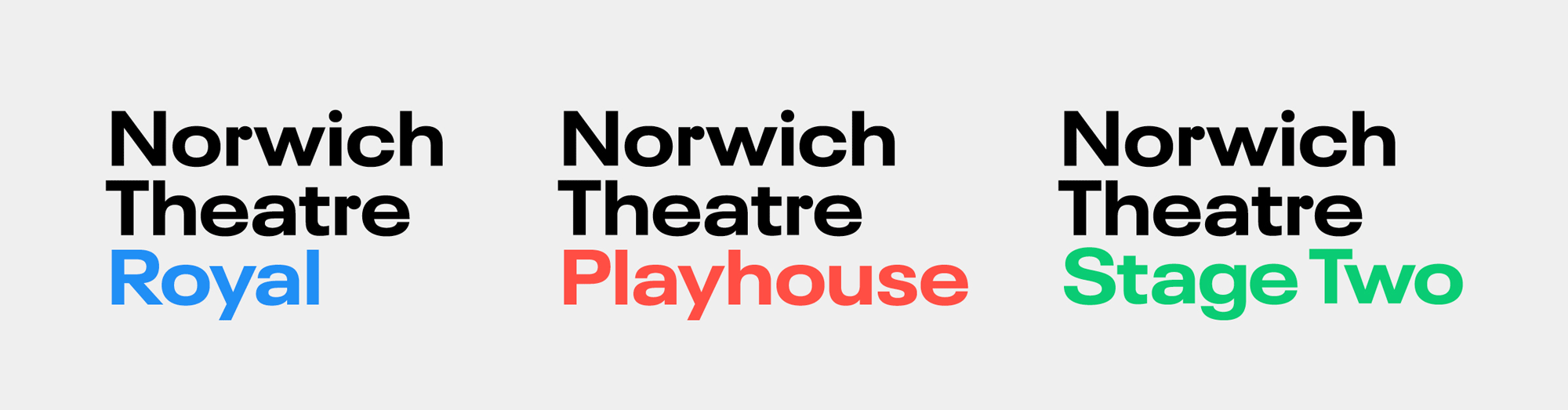 New Logo and Identity for Norwich Theatre by Rose