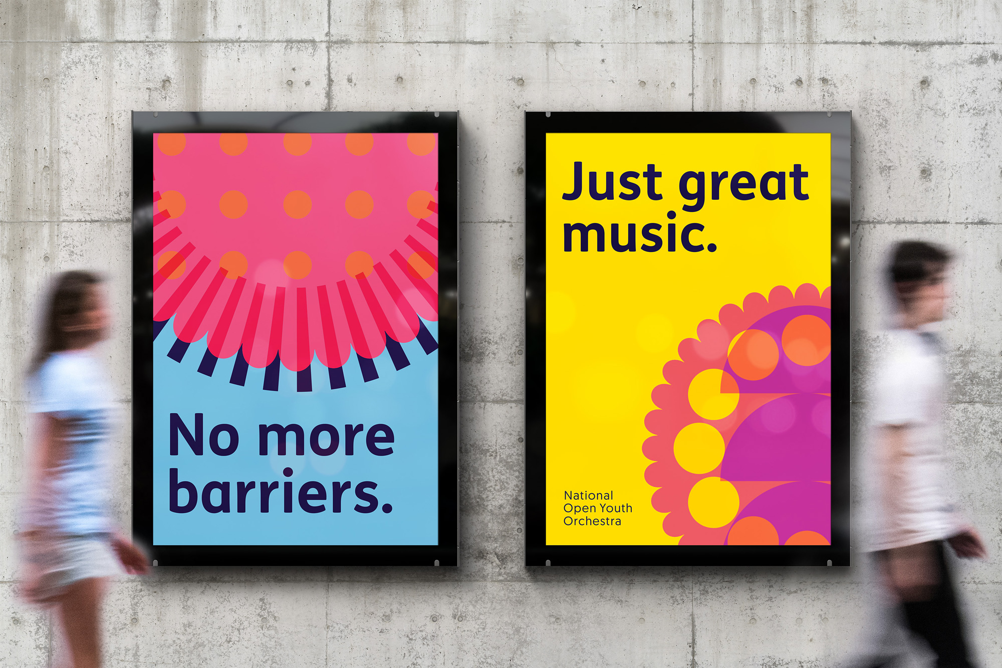 New Logo and Identity for National Open Youth Orchestra by Fiasco Design
