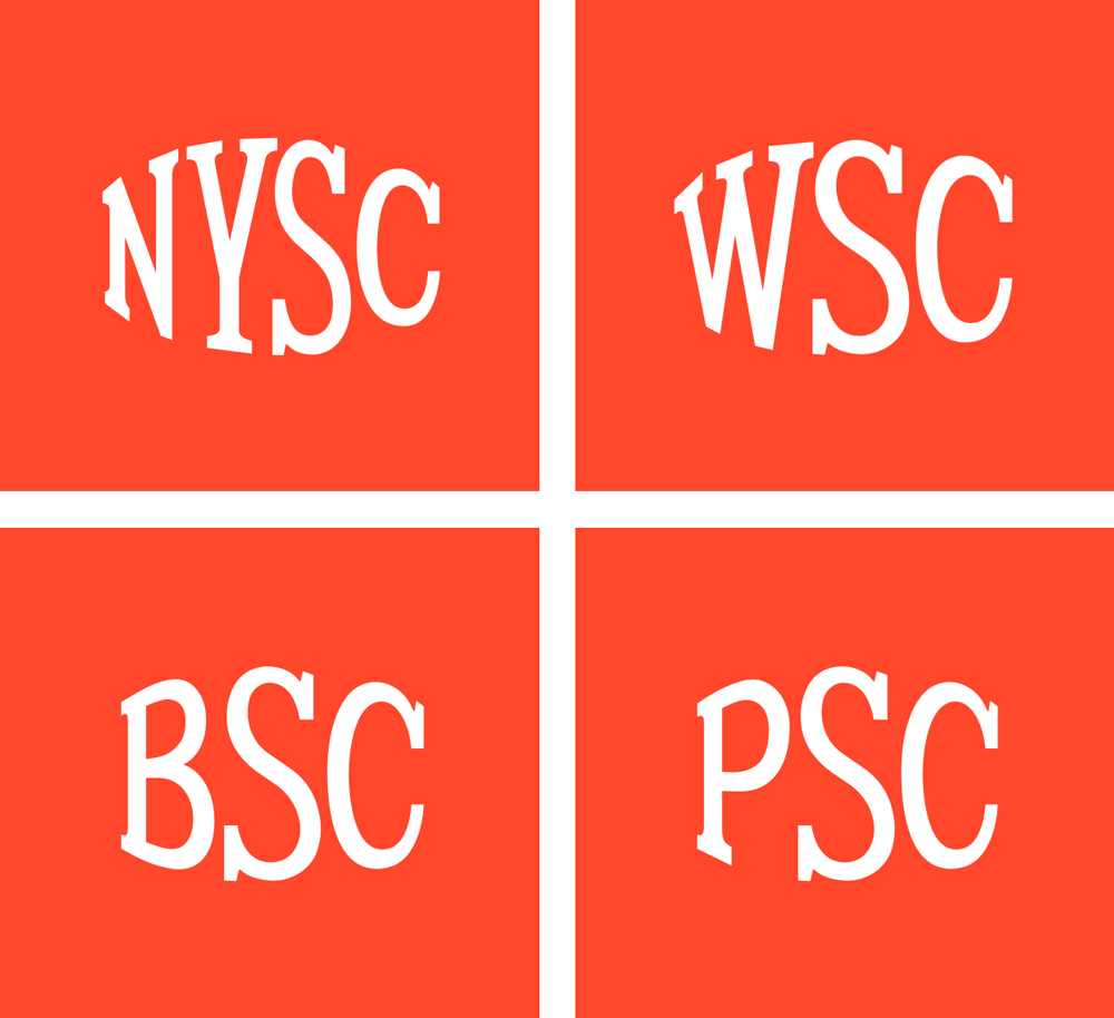 Color combination gray and blue - Brand New New Logo And Identity For Nysc Wsc Bsc And