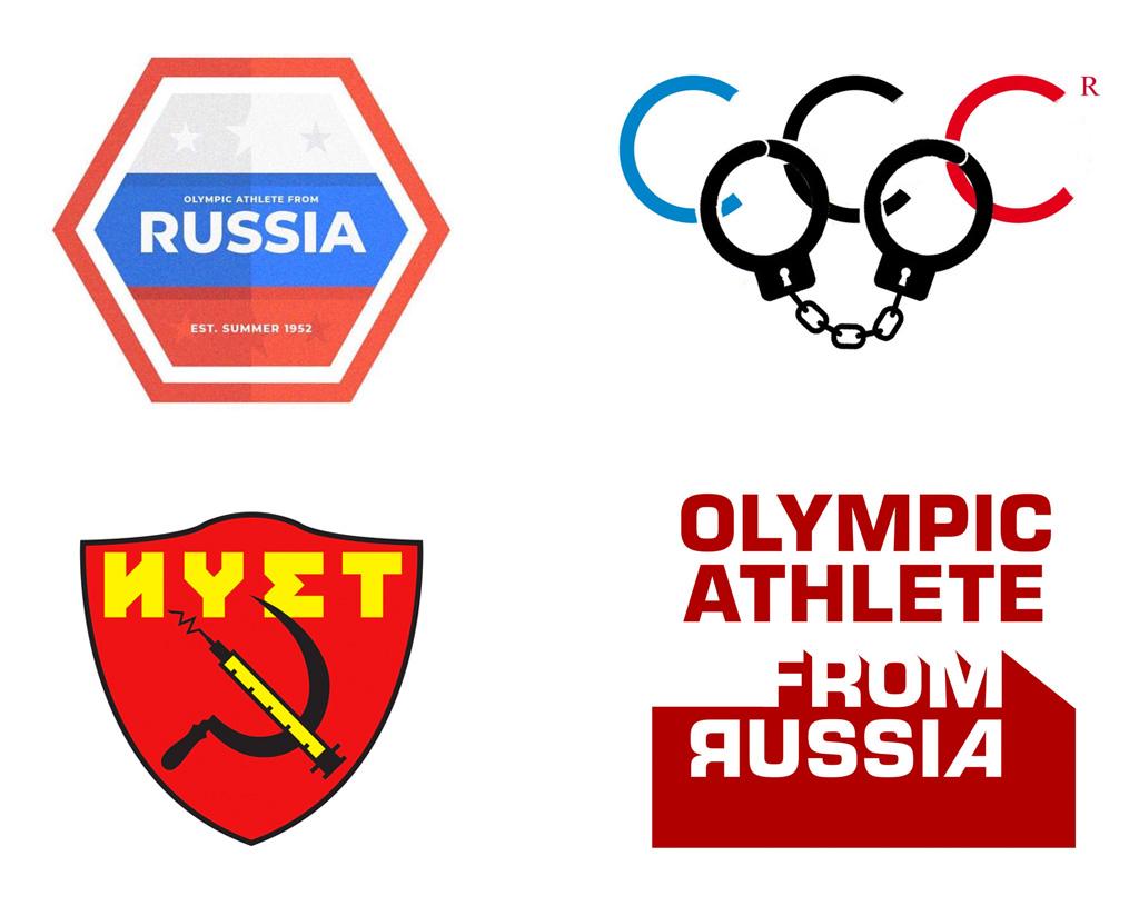 Russian and Korean Athlete Logo Ideas