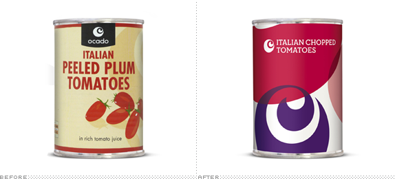 Ocado Packaging, Before and After