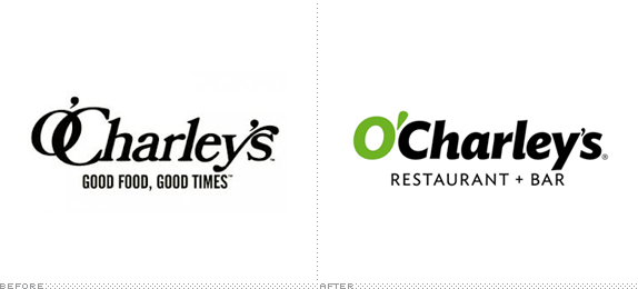 O'Charley's Logo, Before and After