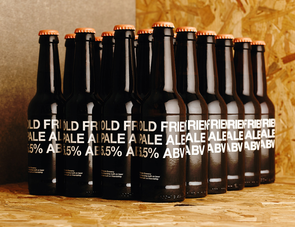 New Logo and Packaging for Old Friends Brewery by The District