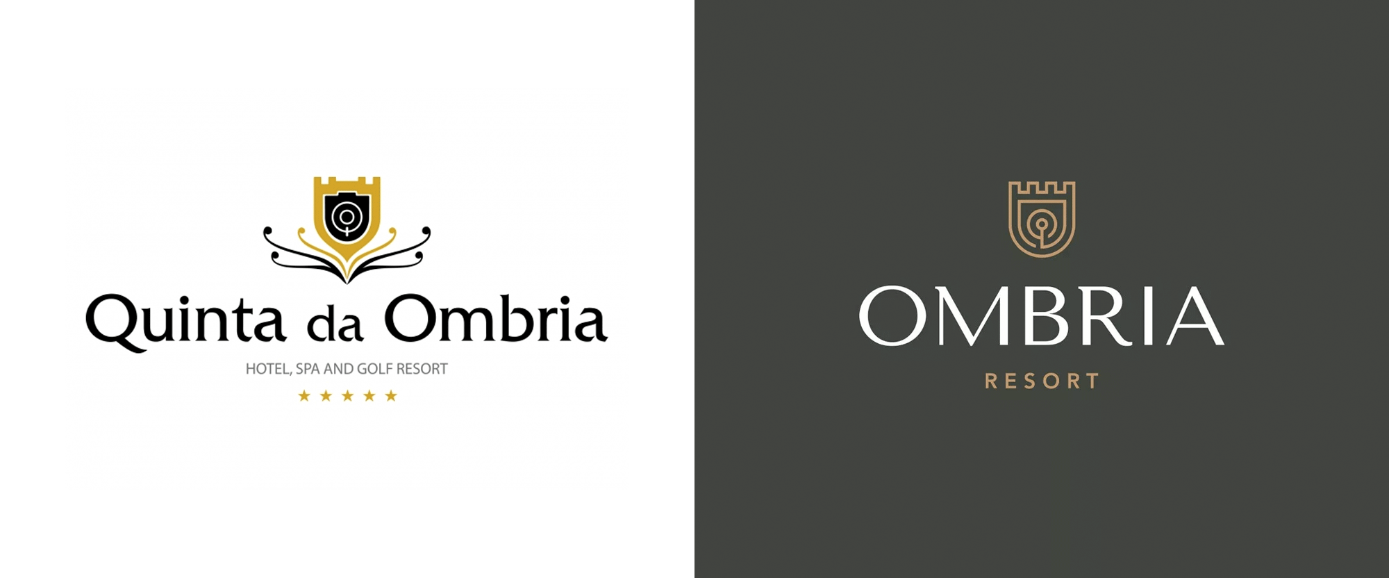 New Logo and Identity for Ombria Resort by Triplesky