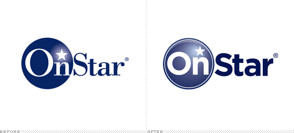 OnStar Logo, Before and After