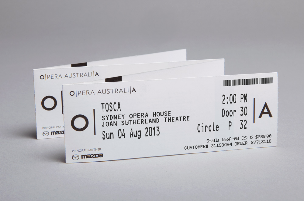 New Logo and Identity for Opera Australia by Interbrand Sydney