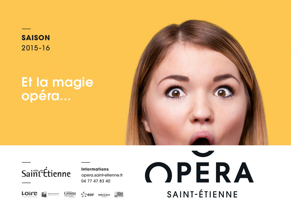 New Name, Logo, and Identity for Opera Saint-Étienne by Graphéine