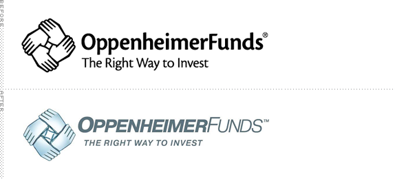 OppenheimerFunds Logo, Before and After