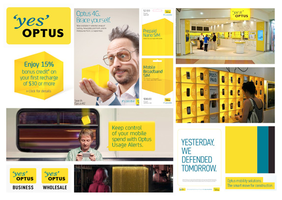 Optus Logo, Identity, and Advertising