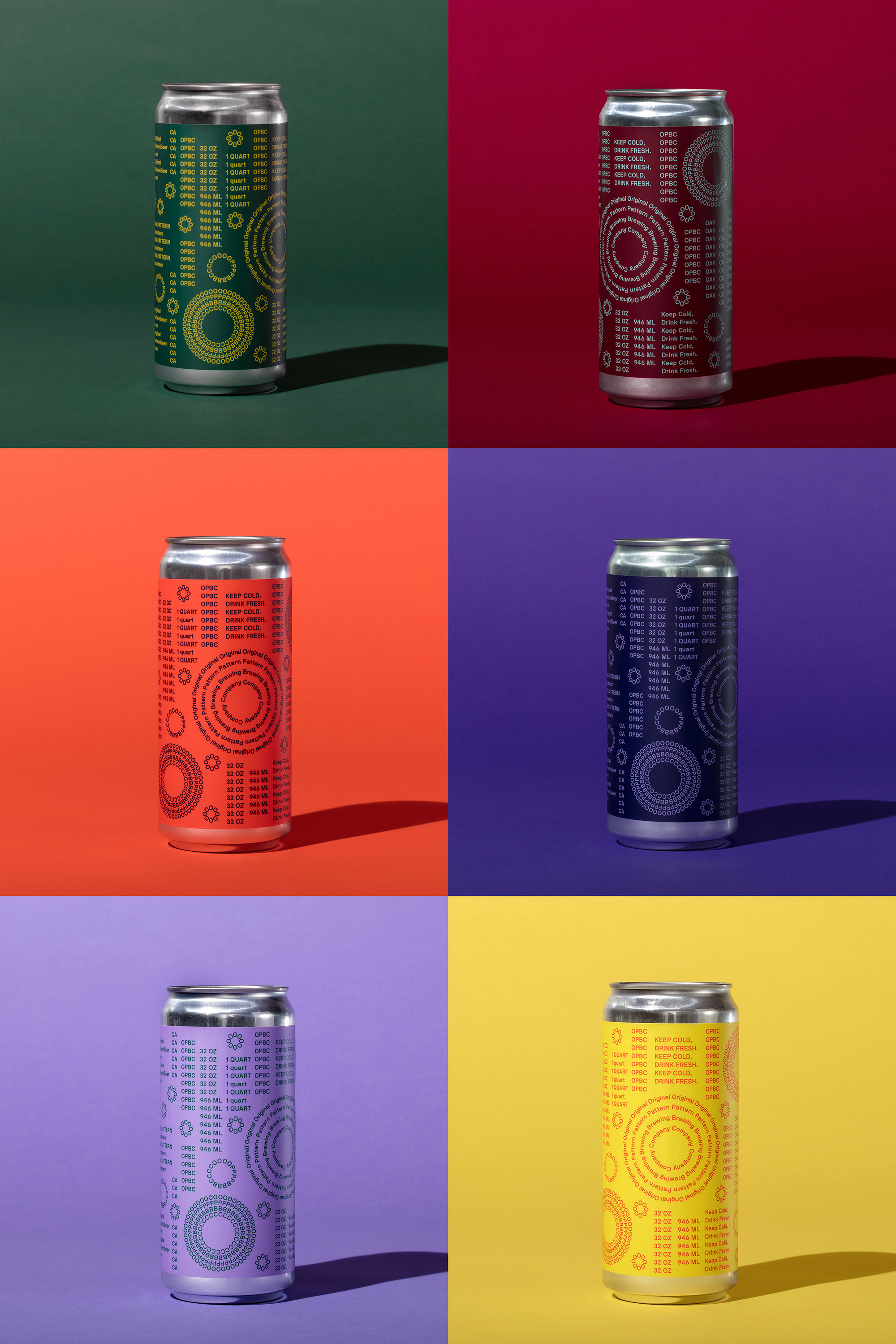New Logo, Identity, and Packaging for Original Pattern Brewing Company by Play