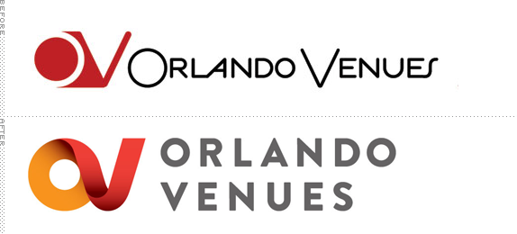 Orlando Venues Logo, Before and After