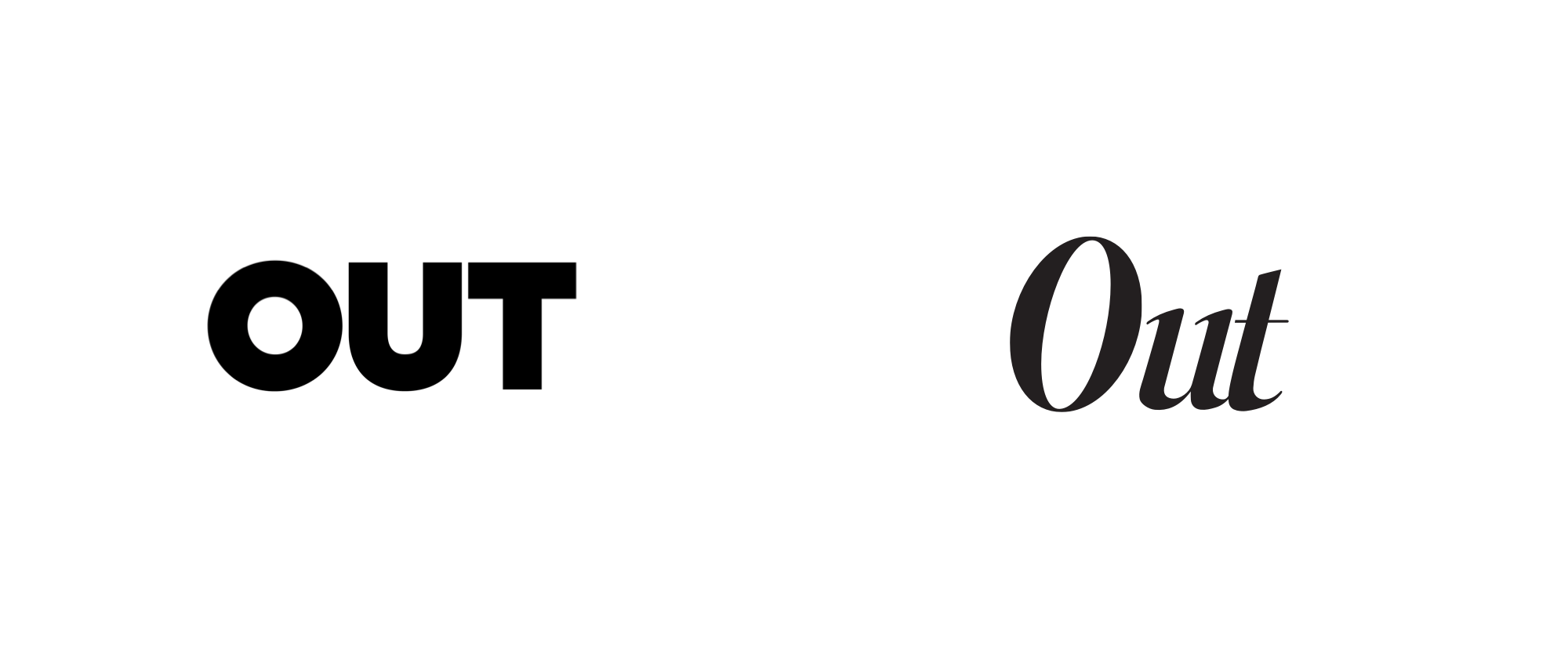 New Logo for Out Magazine by Katarina Batina