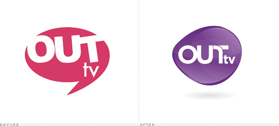Out TV Logo, Before and After