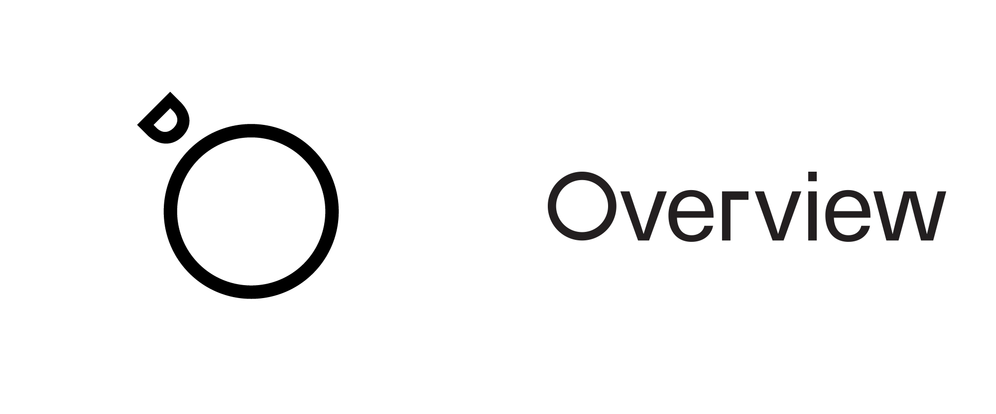 New Logo and Identity for Overview by Ben Bloom