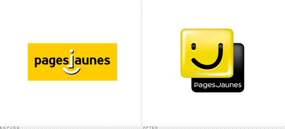 PagesJaunes Logo, Before and After