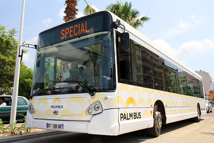 New Logo and Identity for Palm Bus by Sylvain Boyer