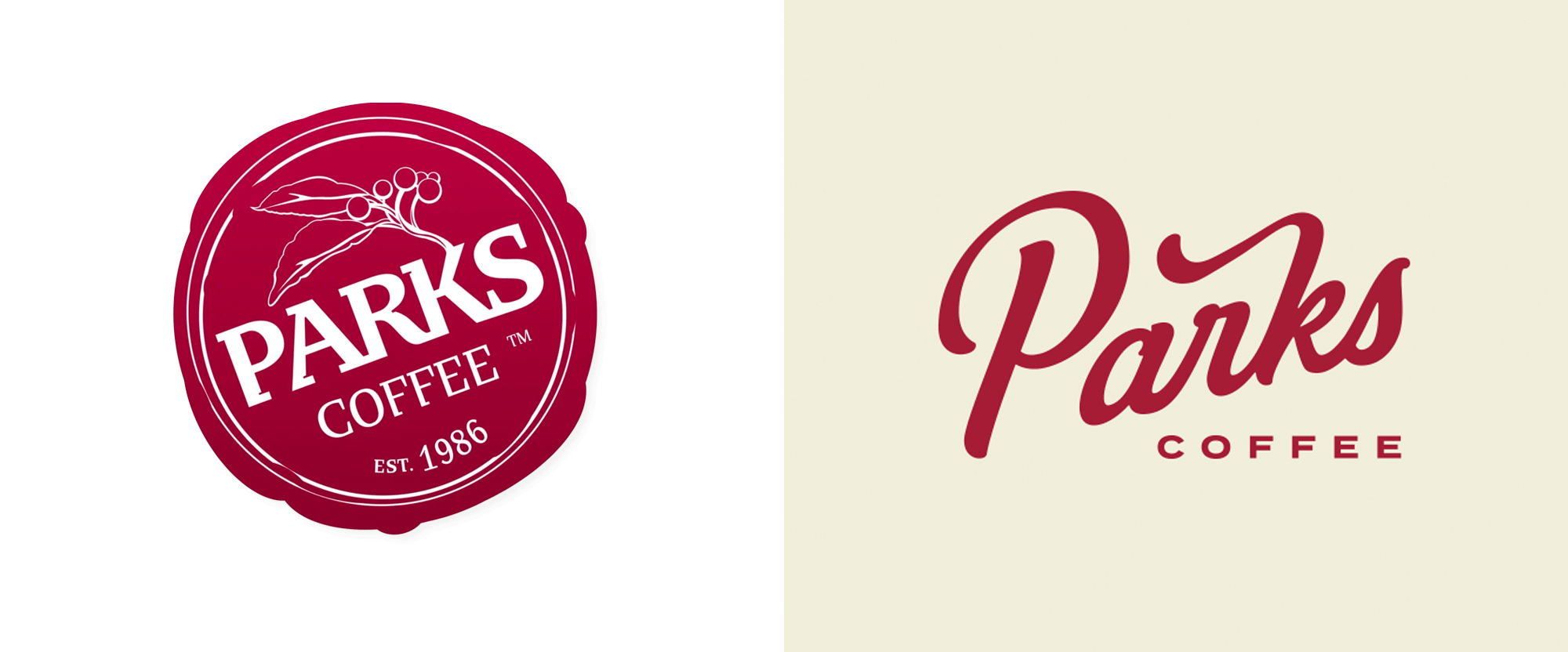 New Logo and Identity for Parks Coffee by The Brand Hatchery