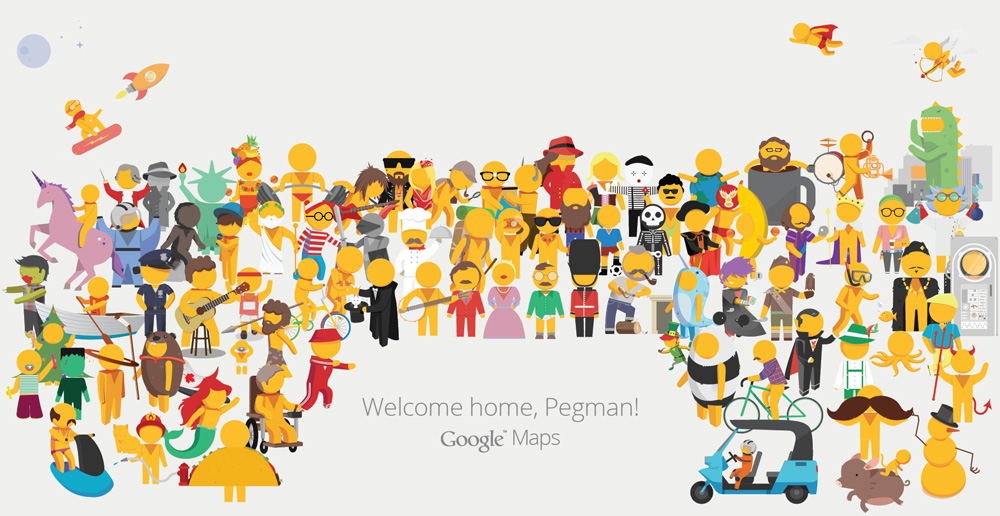 New Pegman for Google Maps by B-Reel