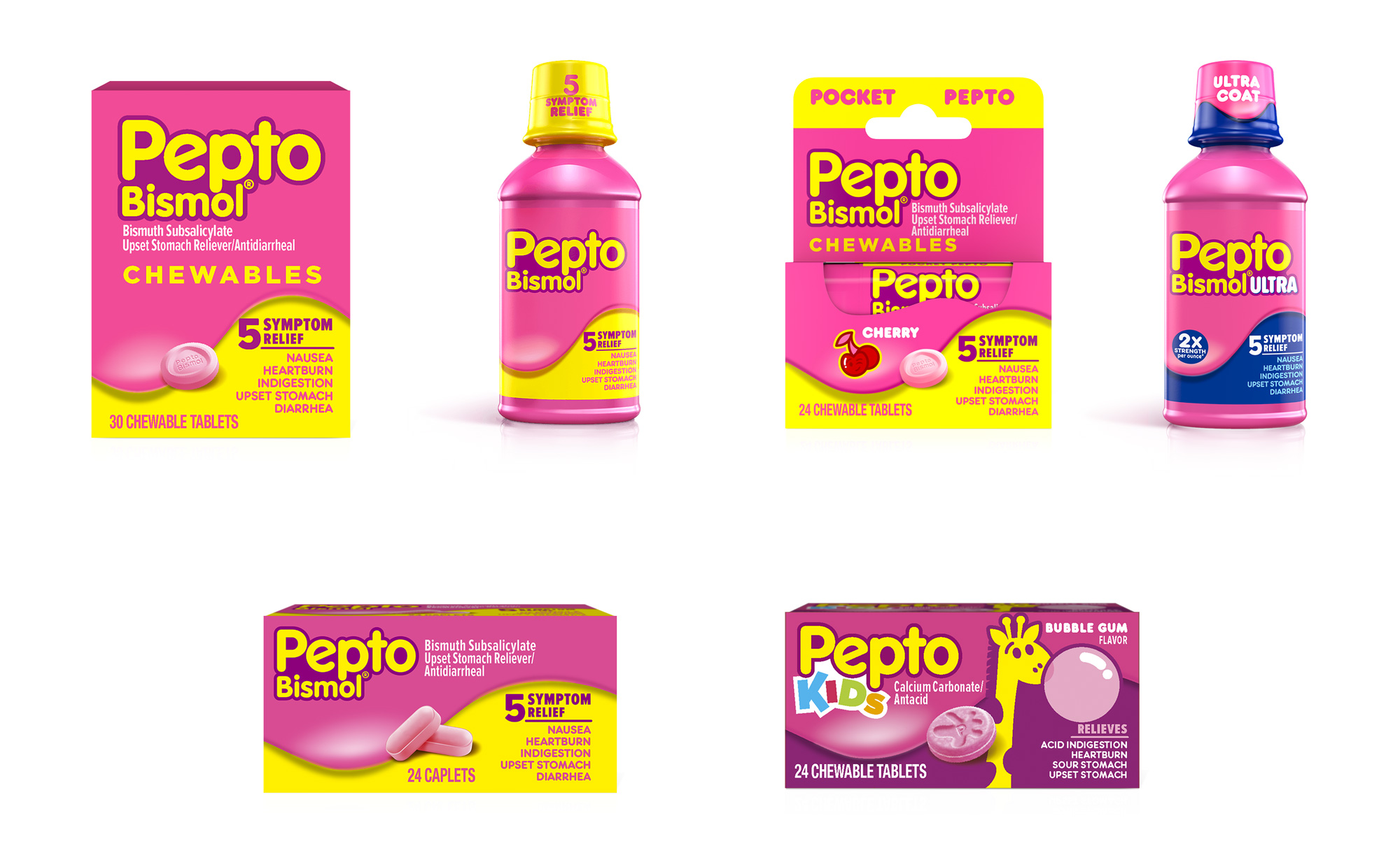 New Logo and Packaging for Pepto-Bismol