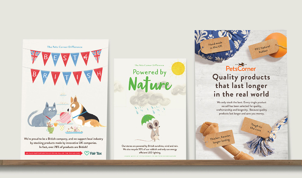 New Logo and Identity for Pets Corner by Junction Design