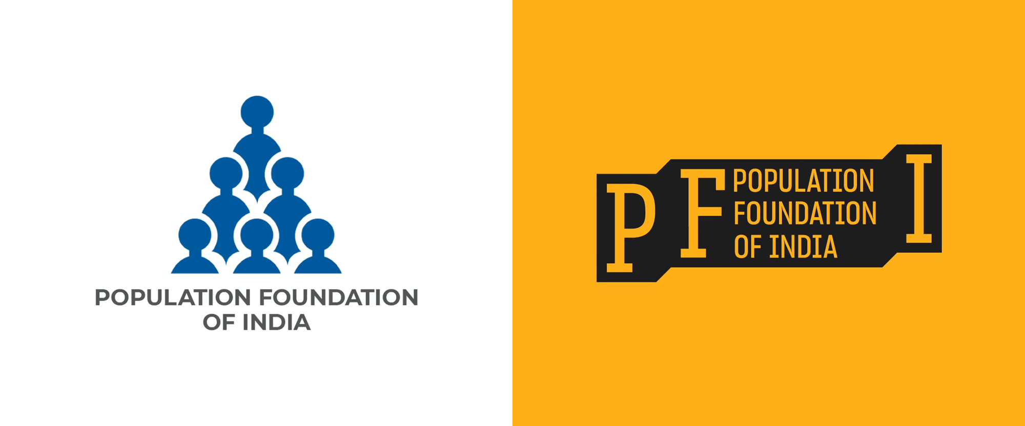 New Logo and Identity for Population Foundation of India by Lopez Design