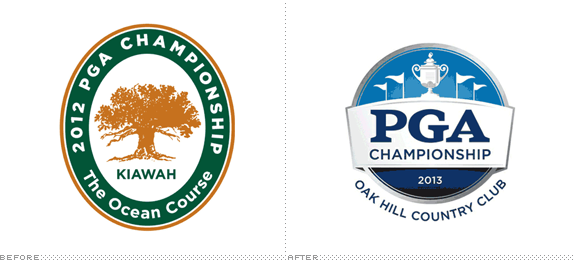 PGA Championship Logo, Before and After