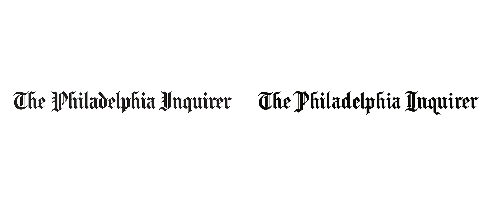 New Logo for The Philadelphia Inquirer done In-house