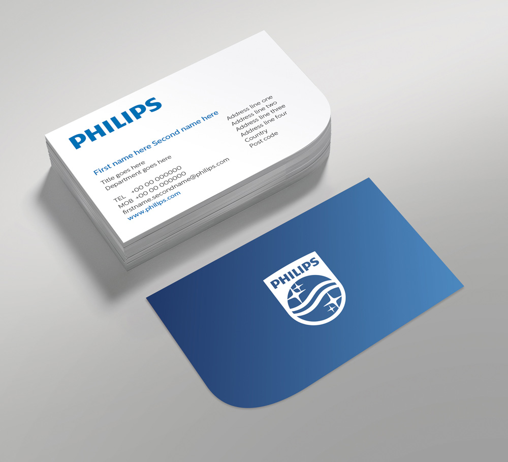 Brand new new logo and identity by and for philips for New business cards