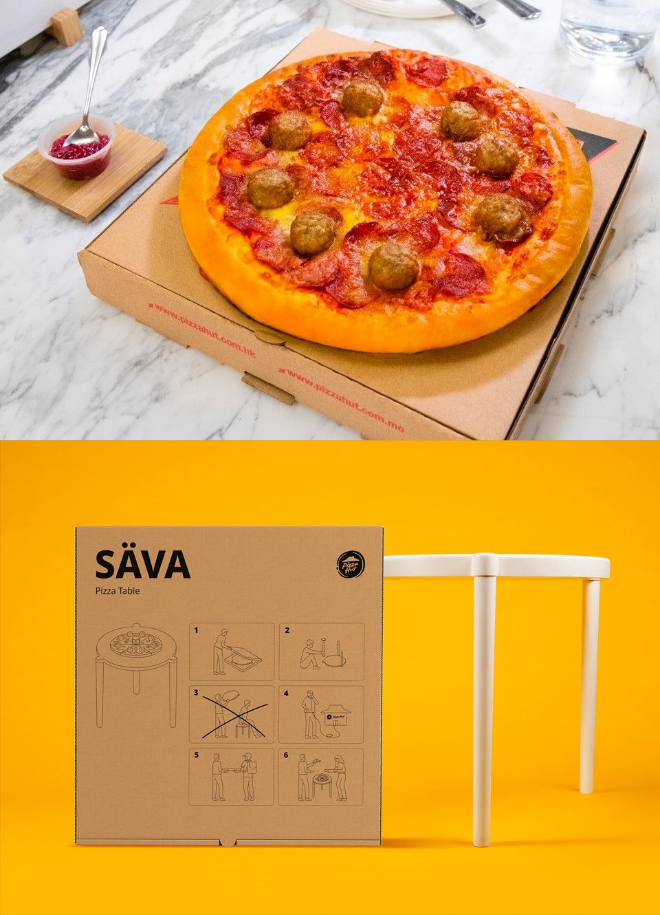 IKEA & Pizza Hut Come to the Table