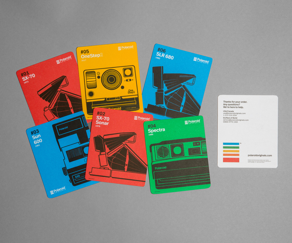 New Logo, Identity, and Packaging for Polaroid Originals done In-house
