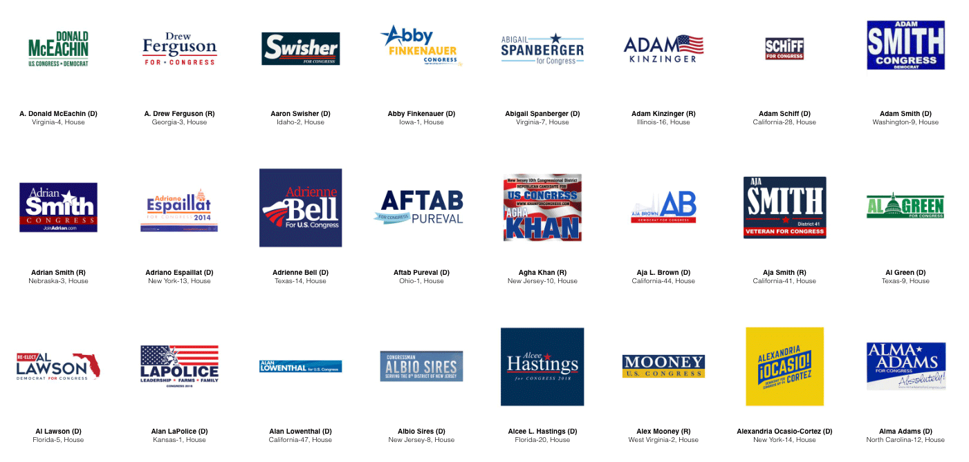 American Political Candidate Logos
