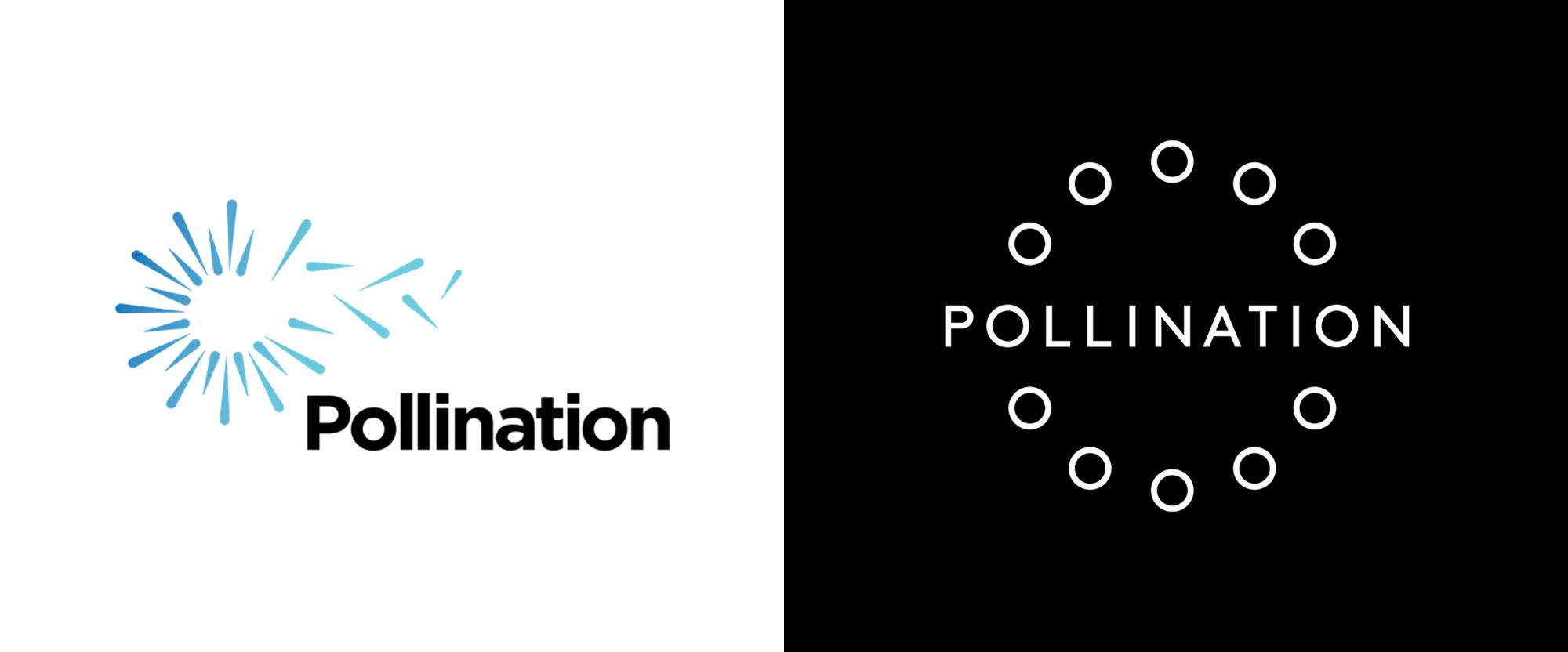 New Logo and Identity for Pollination by Frost*