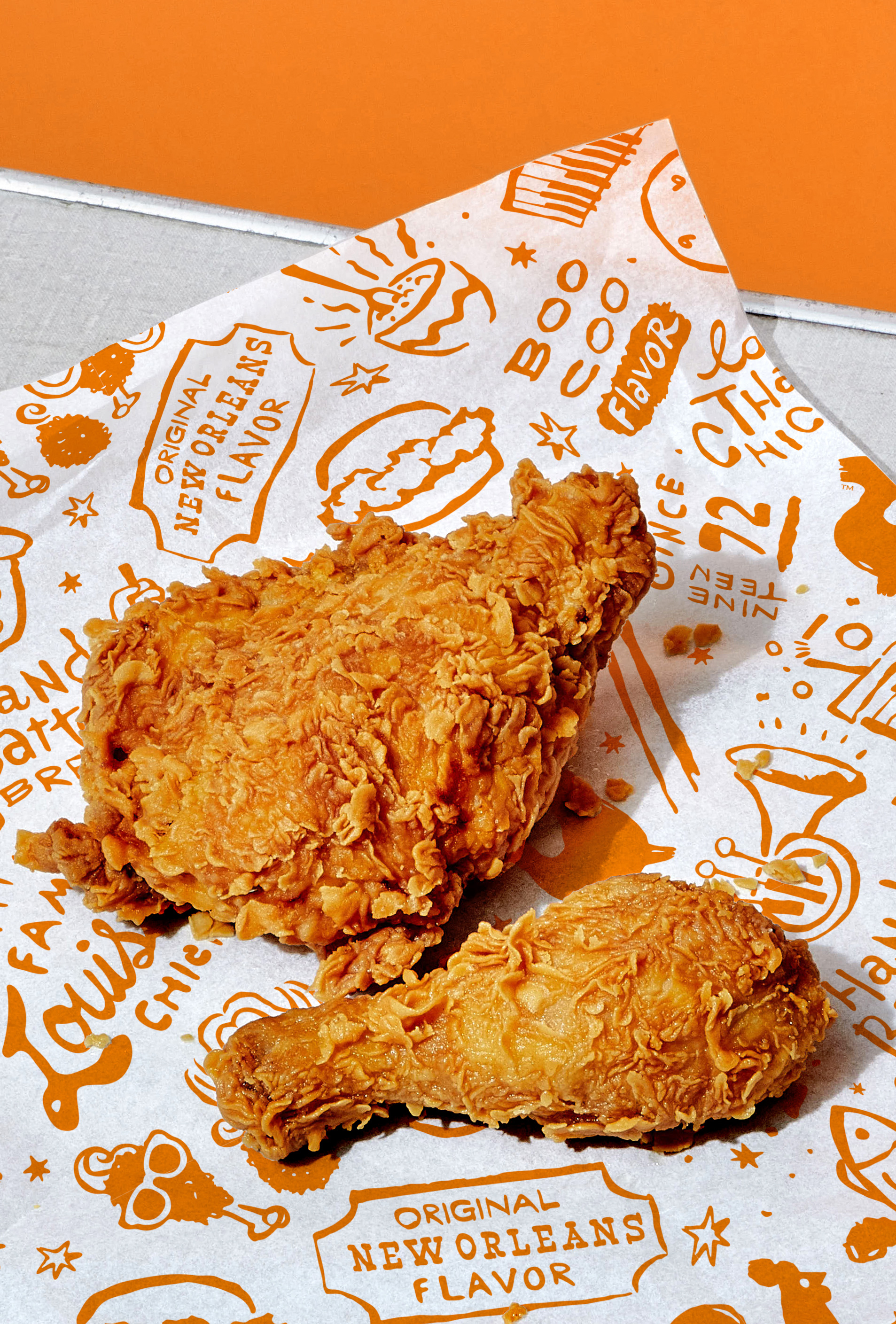 New Logo and Identity for Popeyes by Jones Knowles Ritchie