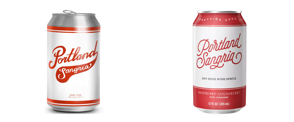 New Logo and Packaging for Portland Sangria by Henry Jinings