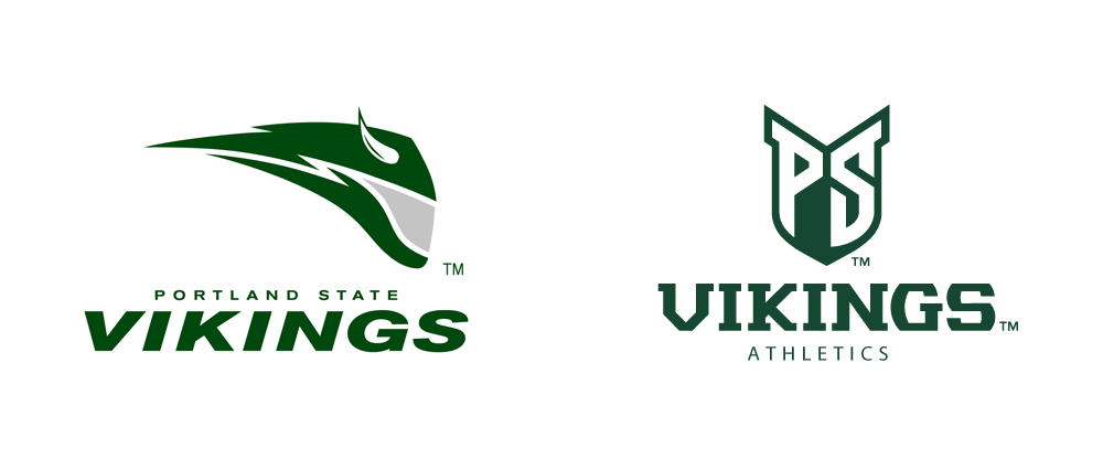 new product 72998 a7e69 Brand New: New Logos and Uniforms for Portland State Vikings ...