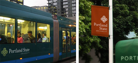 Portland State University Logo, In Use