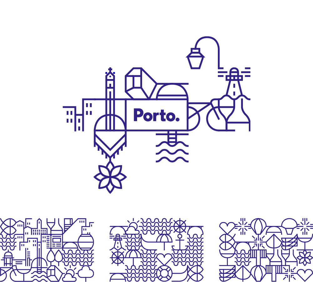 brand new new logo and identity for porto by white studio. Black Bedroom Furniture Sets. Home Design Ideas