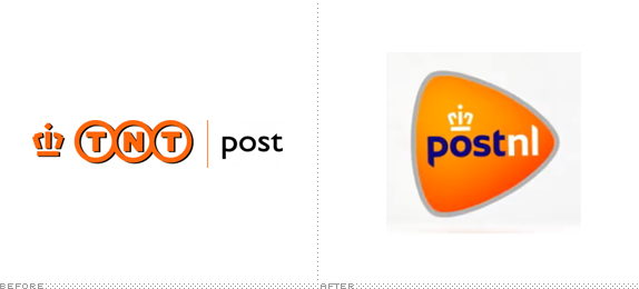 TNT Post Logo, Before and After