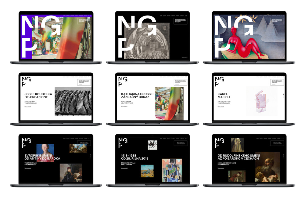 New Logo and Identity for National Gallery in Prague by Studio Najbrt