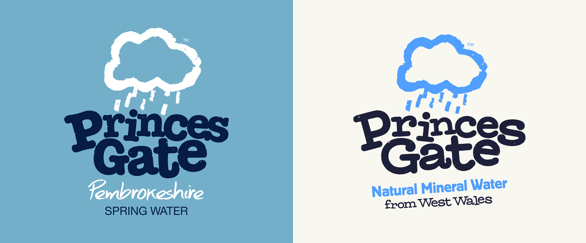 New Logo and Identity for Princes Gate Water by John & Jane