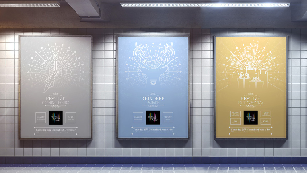 New Logo and Identity for Princes Square by Shine