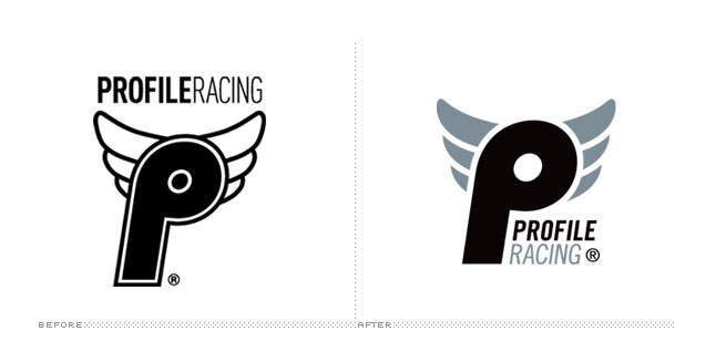 Profile Racing Logo, Before and After