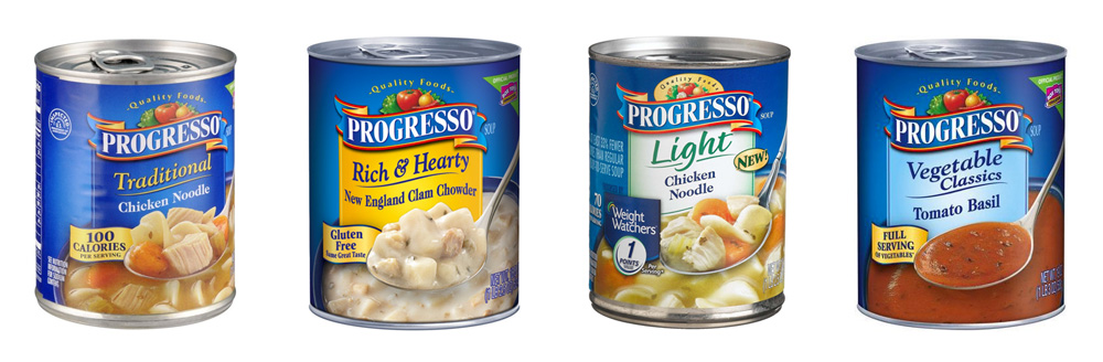 Packaging for Progresso by Hornall Anderson