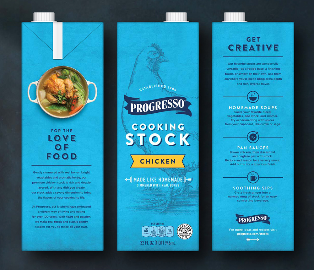 Brand New: New Packaging for Progresso Cooking Stocks by Hornall ...